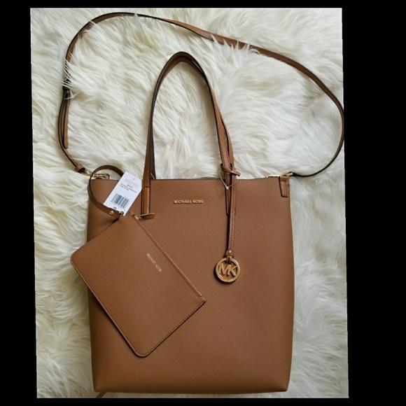 19b82e18790f Michael Kors Bags   Hayley Convertible Tote Acornoyster   Poshmark